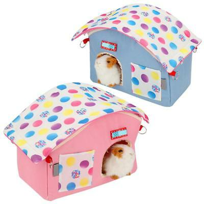 Pet Hamster Cage House Small Animal Gerbil Mouse Rat Bedroom Playhouse Durable