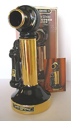 1919 Upright Hand Set Telephone 24 K Gold Brooks Like Beam Phone Decanter