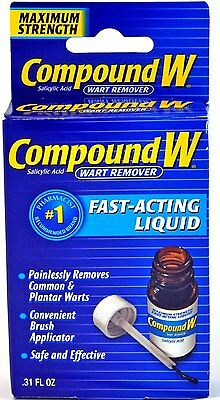 Compound W Fast-Acting Liquid Wart Remover verruca treatment FOR LARGE WARTS