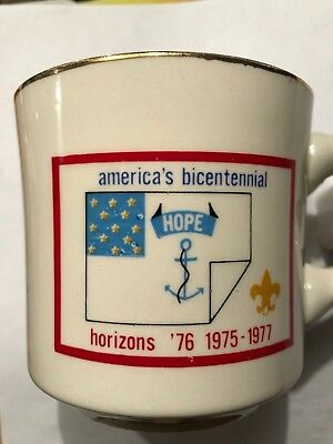 Vintage Boy Scouts Cup  America's Bicentennial Hope Horizons 76 1975 1977