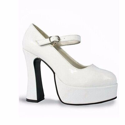 White Patent Mary Jane Adult Shoes