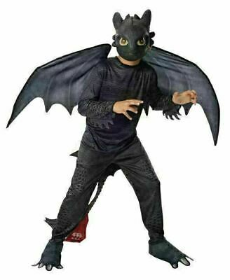 How To Train Your Dragon - Toothless Night Fury Child Costume Size 3-4 Yrs