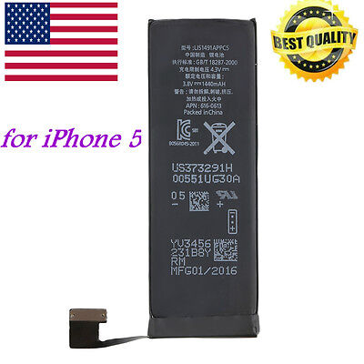 Brand NEW Replacement Battery for iPhone 5 5G APN 616-0613 1440mAhXZ
