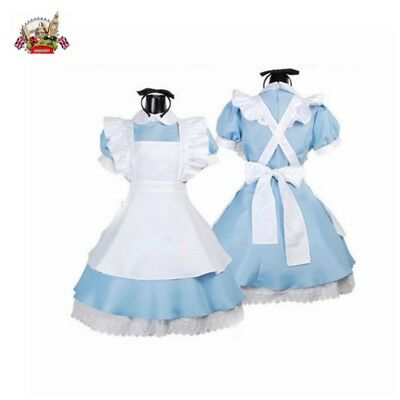 Deluxe Damen Alice im Wunderland Halloween Party Fancy Dress Up Kostüm Outfit DE
