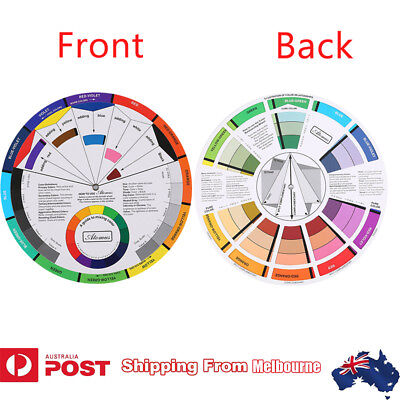 Artists Color Wheel Mixing Guide Nail Color Embroidery Wheel Diameter 23.5cm