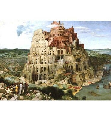 1000 piece jigsaw puzzle- Babel (High Quality European Blue Board).