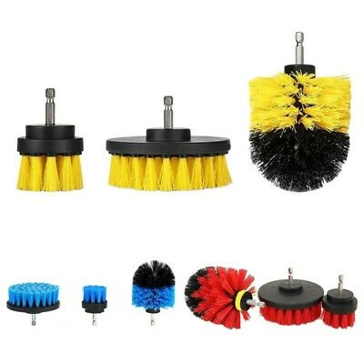 3x Bathroom Tile Grout Power Scrubber Cleaning Drill Brush Tub Cleaner Combo Set