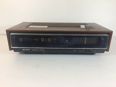 Vintage Sony TFM-C770W Digimatic Litetime Roll Clock (Partially Working)
