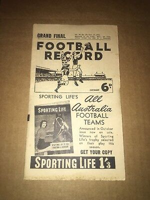 1958 Vfl Grand Final Record - Collingwood Premiers (Missing Pages)
