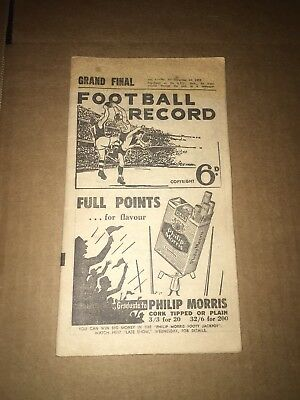 1952 Vfl Grand Final Record - Geelong Premiers (Missing Pages)