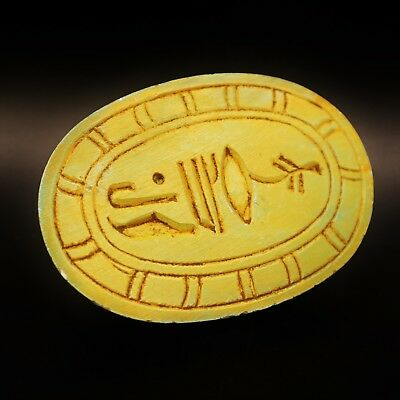 Rare Antique Egyptian Stone Scarab Beetle Amulet Figurine