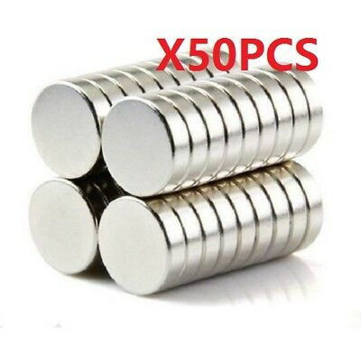 50Pcs Strong N50 Neodymium Magnets Rare-Earth Round Discs Fridge Craft 12X2mm