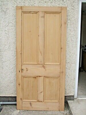 """35"""" 5/8 x 76"""" 5/8 Large Internal Victorian four panel stripped pine Door  MP~880"""
