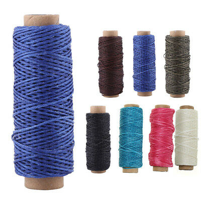 New Sewing Wax Thread For DIY Leather Stitching Craft Cord 50m For Shoes Purses