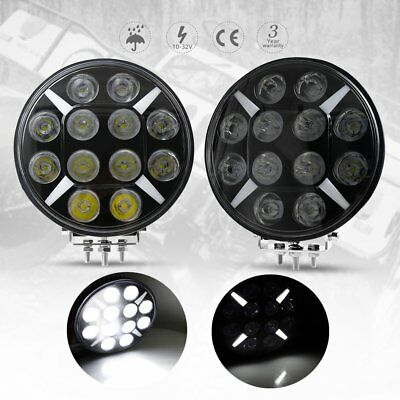 Pair 9 inch CREE LED Driving Lights Spot Black Round Spotlights 4x4 Offroad SUV