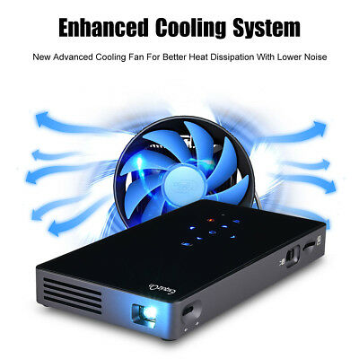 Excelvan P8I Mini DLP Android 7.0 1G + 8G Projector WiFi 1080P 2*USB auction