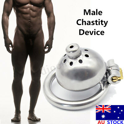 Stainless Steel Male Chastity Device Belt Super Small Short Cage Ring Lock Metal