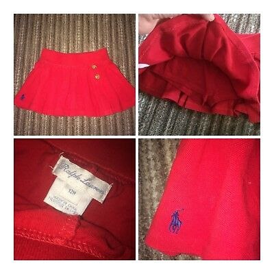 baby girl Ralph Lauren 12m Stunning Tennis Skirt 😍
