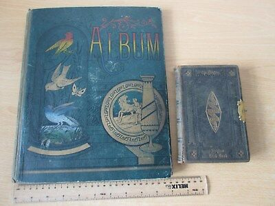 40-page 1913 Victorian Scrap Book with 1880 Scripture Text Book