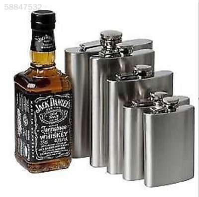 Portable Stainless Steel Pocket Hip Flask Drink Beer Whiskey Vodka Alcohol Case