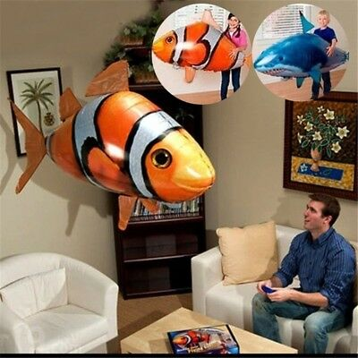Blimp Toy Airplane Toys Flying Fish Inflatable Toy Animal Balloon Remote Control