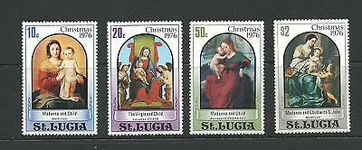 1976 Christmas set 4  SG 438-441 Complete MUH/MNH as Issued Except 10c stain