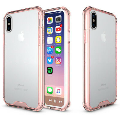 Shockproof Armor Clear Transparent Case For iPhone XS Max X XR 6s 7 8 Plus Cover