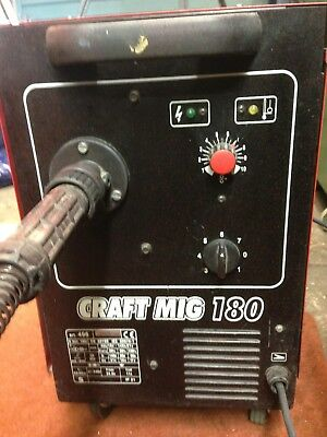 Used Craft Mig 180 Welderwith Gas Bottle In good working order
