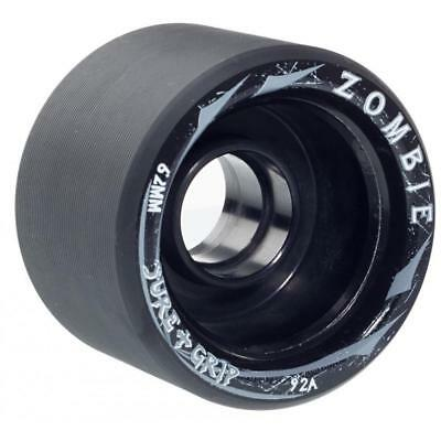 Sure-Grip Zombie Mid Quad Skate Indoor Speed Wheels 62mm 92A Black  (Pack of 4)