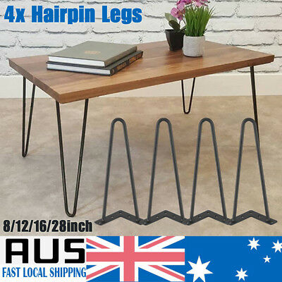 """4 Pack 8""""-28"""" Hairpin Legs / Table Legs Set for Furniture Bench Desk Table 72CM"""