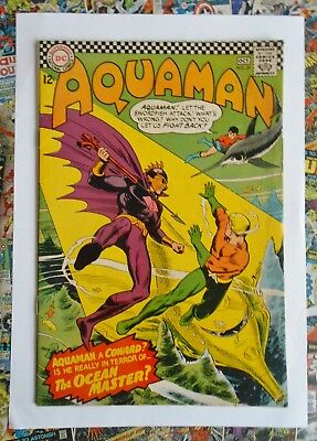 AQUAMAN #29 - OCT 1966 - 1st OCEAN MASTER APPEARANCE! - FN (6.0) CENTS COPY!