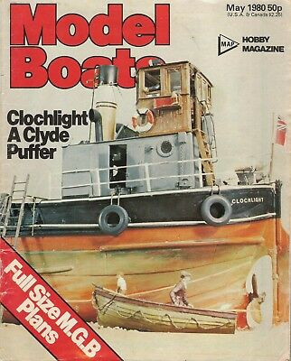 Model Boats Magazine. Volume 30, No. 351, May, 1980. Full Size M.G.B. Plans.