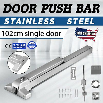 Heavy Duty Fire-Proof Hardware Door Push Bar Panic Exit Device Lock Emergency TO