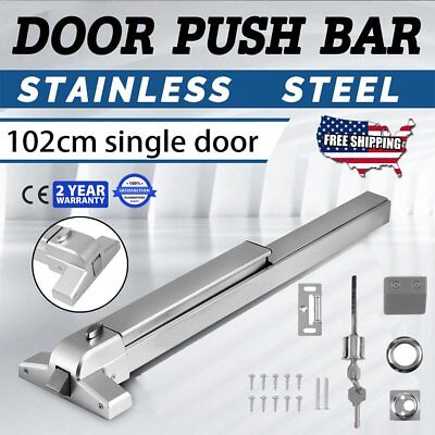 Heavy Duty Fire-Proof Hardware Door Push Bar Panic Exit Device Lock Emergency FA