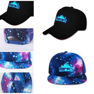 AU Fortnite Adult Kids Hip Hop Snapback Hat Adjustable Glow In Dark Baseball Cap