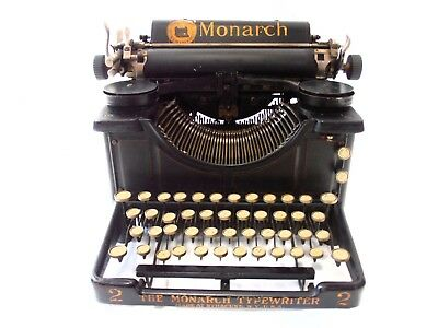 ►Antigua maquina de escribir MONARCH visible nº2 rare circa 1911TYPEWRITER►