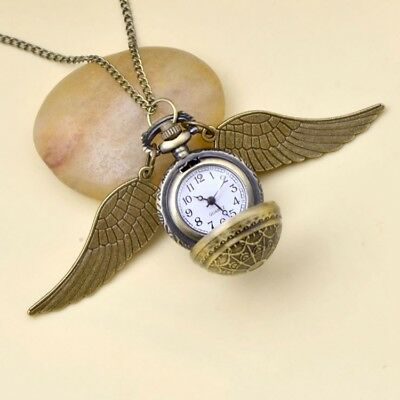 6 Styles Harry Potter Cosplay Golden Wings Snitch Pocket Watch Necklace Hot Gift