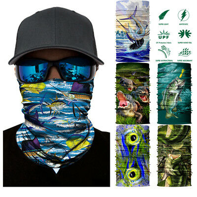 3D Seamless Neck Warmer Scarf for Bandana Balaclava Fishing Motorcycle Face Mask