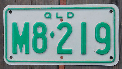 License Plate Number Plate Qld Farm Tractor  MINT  M8-219