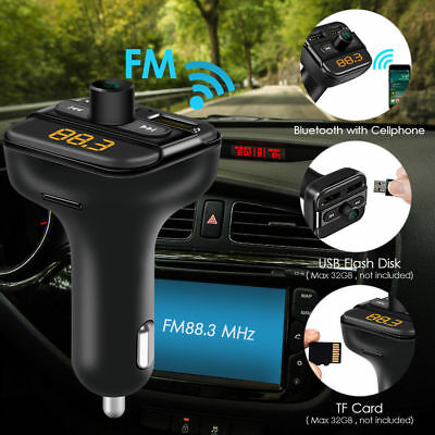 Universal Wireless Bluetooth Car Kit FM Transmitter USB Charger Audio MP3 Player
