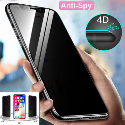 3D 9H Anti-Spy Tempered Glass Film Guard for iPhone XS Max/XR/X Screen Protector