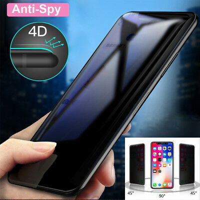 9H Full Cover Anti-Spy Tempered Glass Screen Protector for iPhone XS Max/XR Film