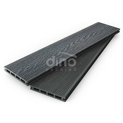 Plastic Wood COMPOSITE Decking Boards Kit Garden & OPTIONAL FIXINGS Slate (Grey)