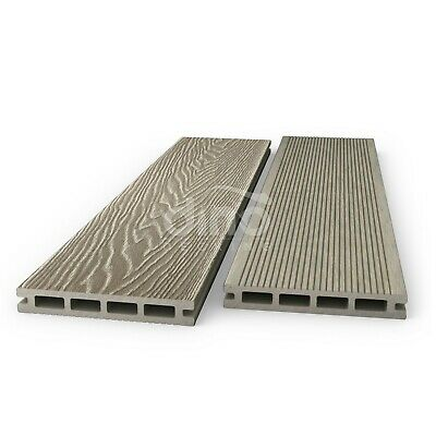 Plastic Wood COMPOSITE Decking Boards Kit Garden & OPTIONAL FIXINGS - Silver