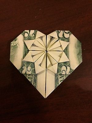 $2 Bill Folded Into A Heart (Origami Gift For She/him) Good For Birthday