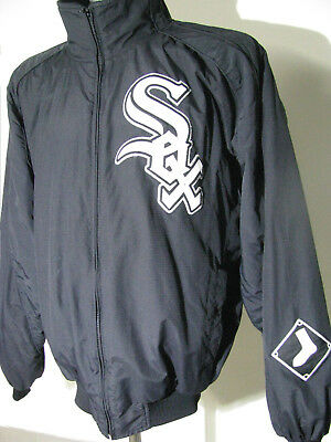 MLB Major League Basebal Dugout  JACKET Chicago White Sox  MAJETSIC (L) Zip Up