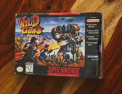 Wild Guns SNES Nintendo Game box no cart or manual with Box Protector