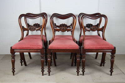 Set of Six Victorian Mahogany Dining Chairs