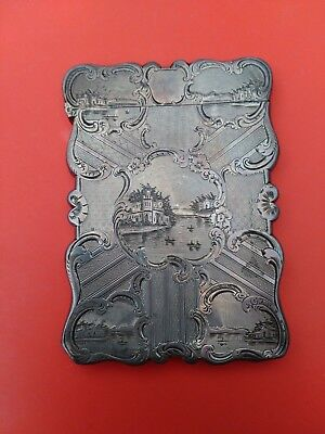 Antique English Silver Cardcase 1848