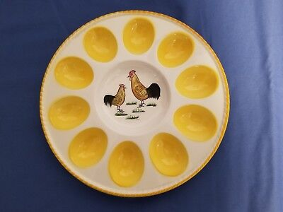 Vintage Egg Plate - holds 10 eggs